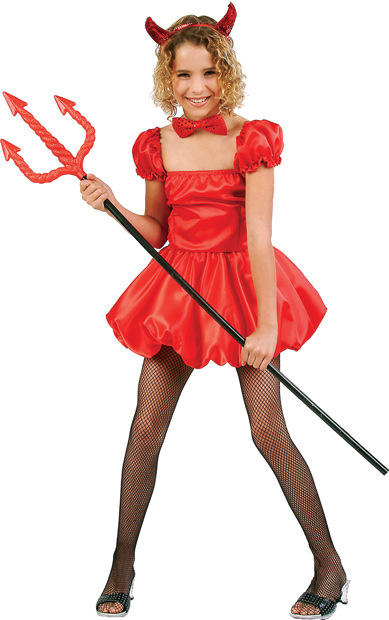 Child's Short Devil Girl Costume