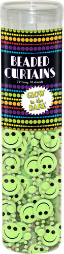 Glow in the Dark Smilies Curtain
