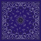 Antique Style Purple Paisley Bandanas