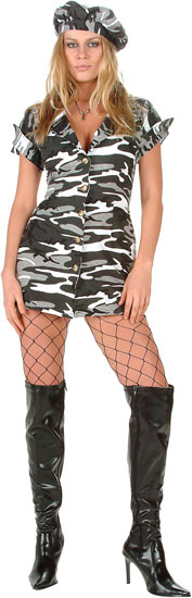Sexy City Camo GI Girl Costume