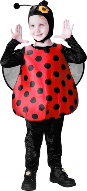 Toddler Fluffy Lady Bug Costume