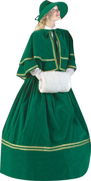 Plus Size Charles Dickens Christmas Carol Dress