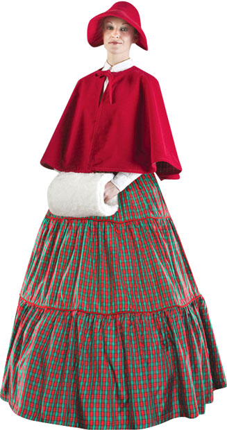 Plus Size Charles Dickens Christmas Carol Checkered Dress