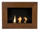 Walnut Wall Mount Gel-Fuel Fireplace