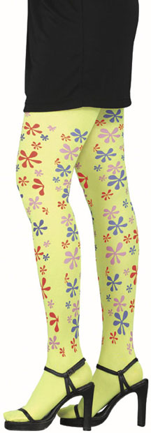 Adult Yellow Flower Hippie Tights