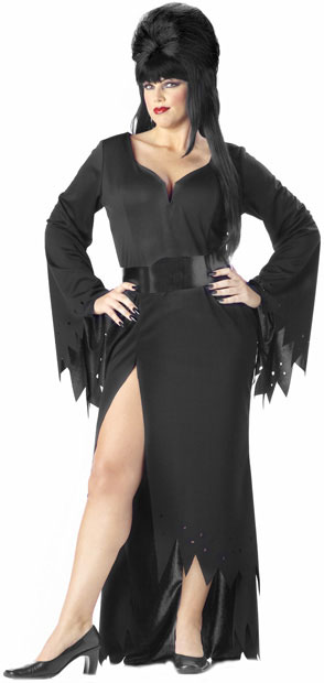 Women's Plus Size Mistress of the Night Costume