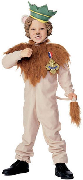 Toddler Cowardy Lion Costume