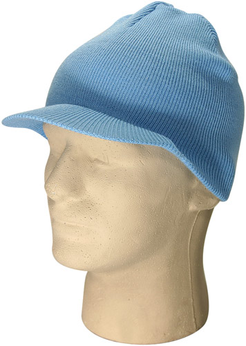 Light Blue Visor Beanie