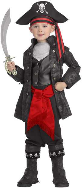 Deluxe Toddler Pirate Captain Costume