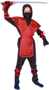 Child's Red Ninja Mortal Kombat Costume