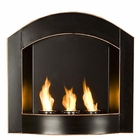 Black Topher Wall Mount Arch Fireplace