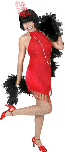 Sexy Red Roaring 20s Flapper Costume