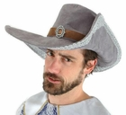 Adult Gray Musketeer Pirate Hat