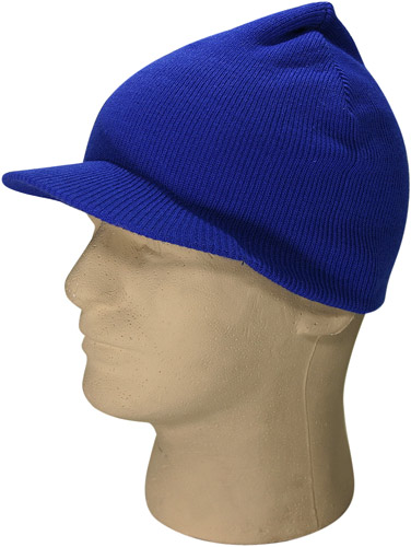 Royal Blue Visor Beanie