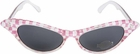 Pink Checker 50's Glasses