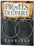 Hoop Pirate Costume Earrings