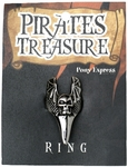 Pirate Silver Skull Ring
