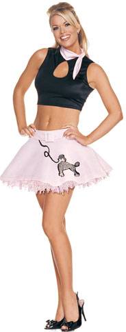 Sexy Poodle Skirt Costume