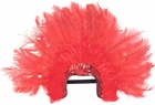 Red Sequin Feather Headpiece