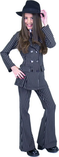 Child's Double Breasted Gangster Moll Suit Costume