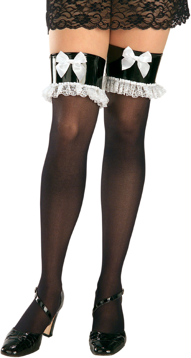 Adult French Maid Thigh High Tights