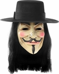 V For Vendetta Mask & Wig Set