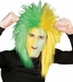 Sports Fan Green and Yellow Wig