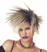 Women's Black & Blonde Spiked Wig