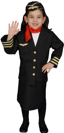Toddler Flight Attendant Costume