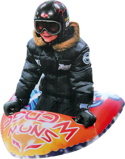 Snow Wedge Inflatable Snow Sled