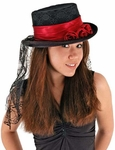 Adult Gothic Rose Top Hat