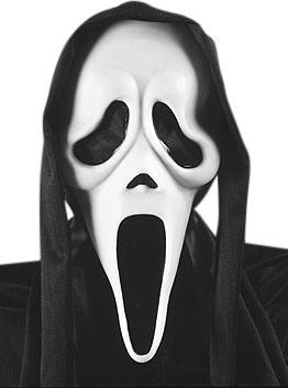 Scream Costume Mask