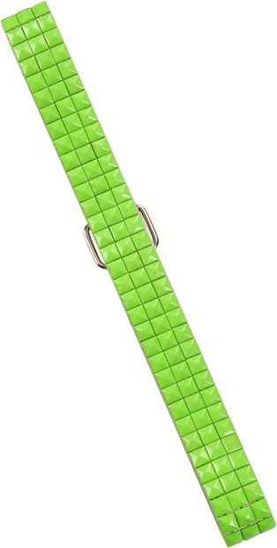 Woman's 80s Style Neon Green Tile Belt