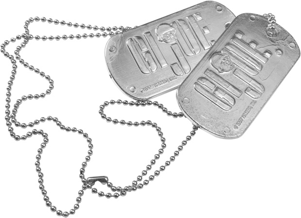 Military Dog Tags Costume Prop