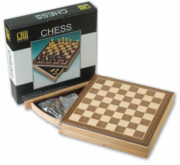 "10�"" Sector Drawer Magnetic Chess Box"