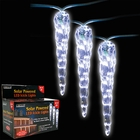 Solar Powered LED Icicle Lights