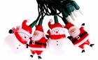 Santa and Snowman String Light Set