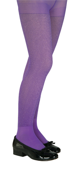 Child's Purple Glitter Tights