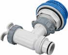 Intex Pool Plunger Valve w/ Threaded Hose Connection and Strainer
