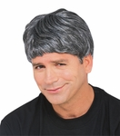 Men's Grey Messy Hair Wig