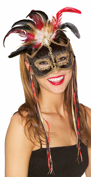 Black Bird Of Paradise Venetian Mask