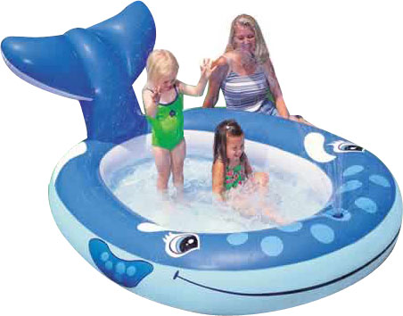 Whale Spray Inflatable Kiddie Pool