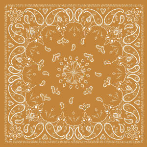 Antique Style Tan Paisley Bandanas