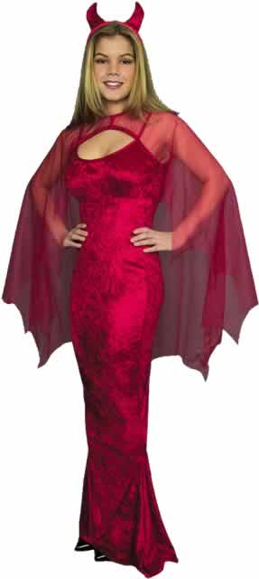 Adult Ladies Devil Costume