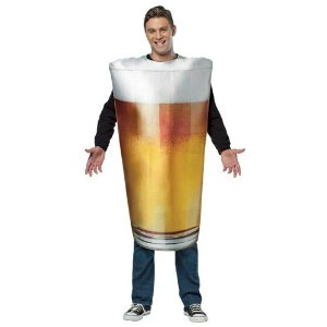 Adult Realistic Beer Glass Costume