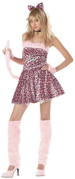 Teen Pink Kitty Cat Costume