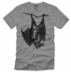 Men's Hanging Bat Halloween Shirt