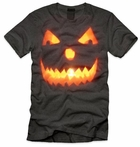Men's Pumpkin Face Halloween Shirt