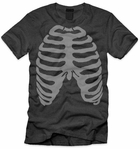 Men's Skeleton Chest Halloween Shirt