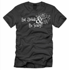 "Women's ""Eat Drink & Be Scary"" Halloween Shirt"